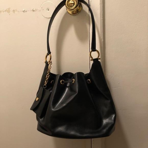 Salvatore Ferragamo Bags   Vintage Black Leather Bag   Poshmark 7799a91ab5